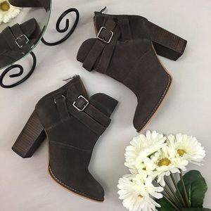 Chinese Laundry Zip It Suede Ankle Booties
